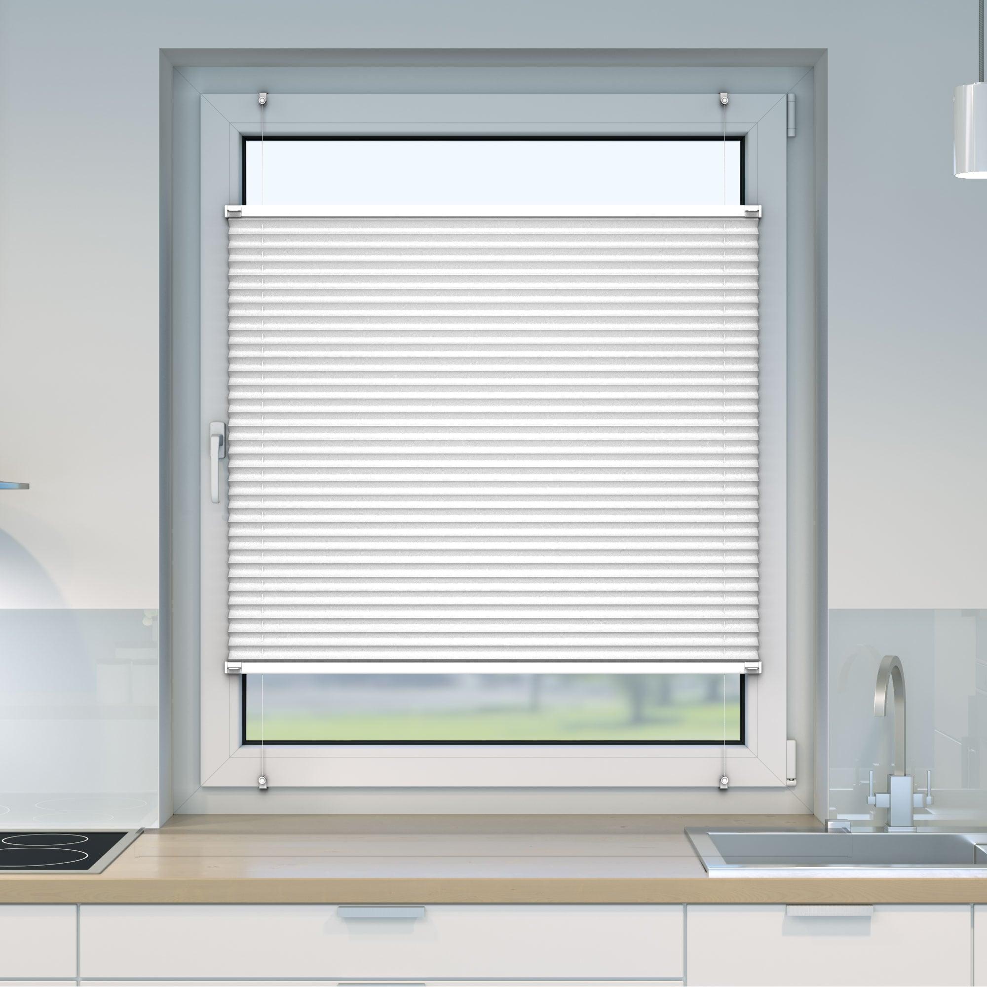 Klemmfix-Plissee-Faltrollo-ohne-Bohren-Fenster-Tuer-Plisseerollo-Plisee-Easyfix Indexbild 21