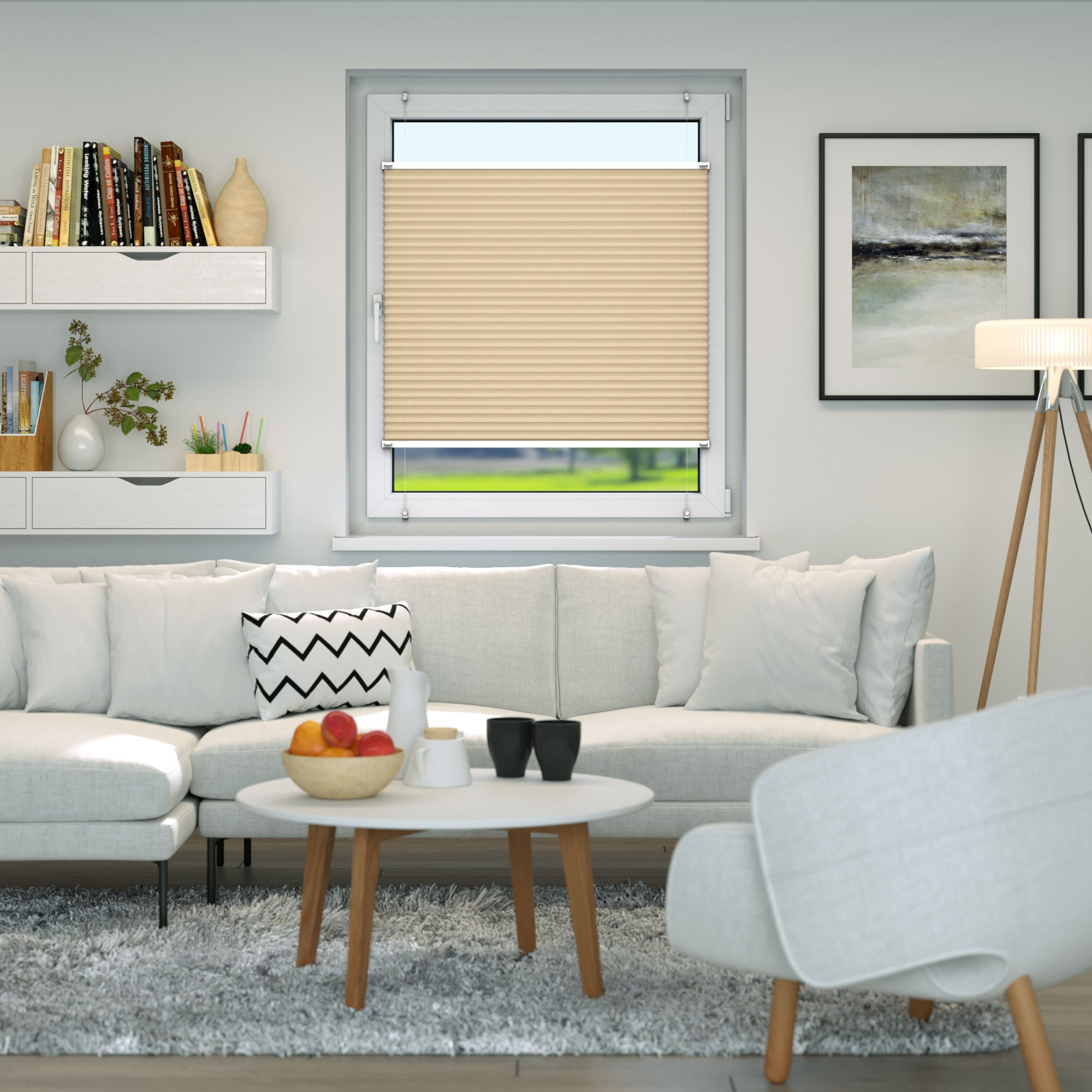 Klemmfix-Plissee-Faltrollo-ohne-Bohren-Fenster-Tuer-Plisseerollo-Plisee-Easyfix Indexbild 12