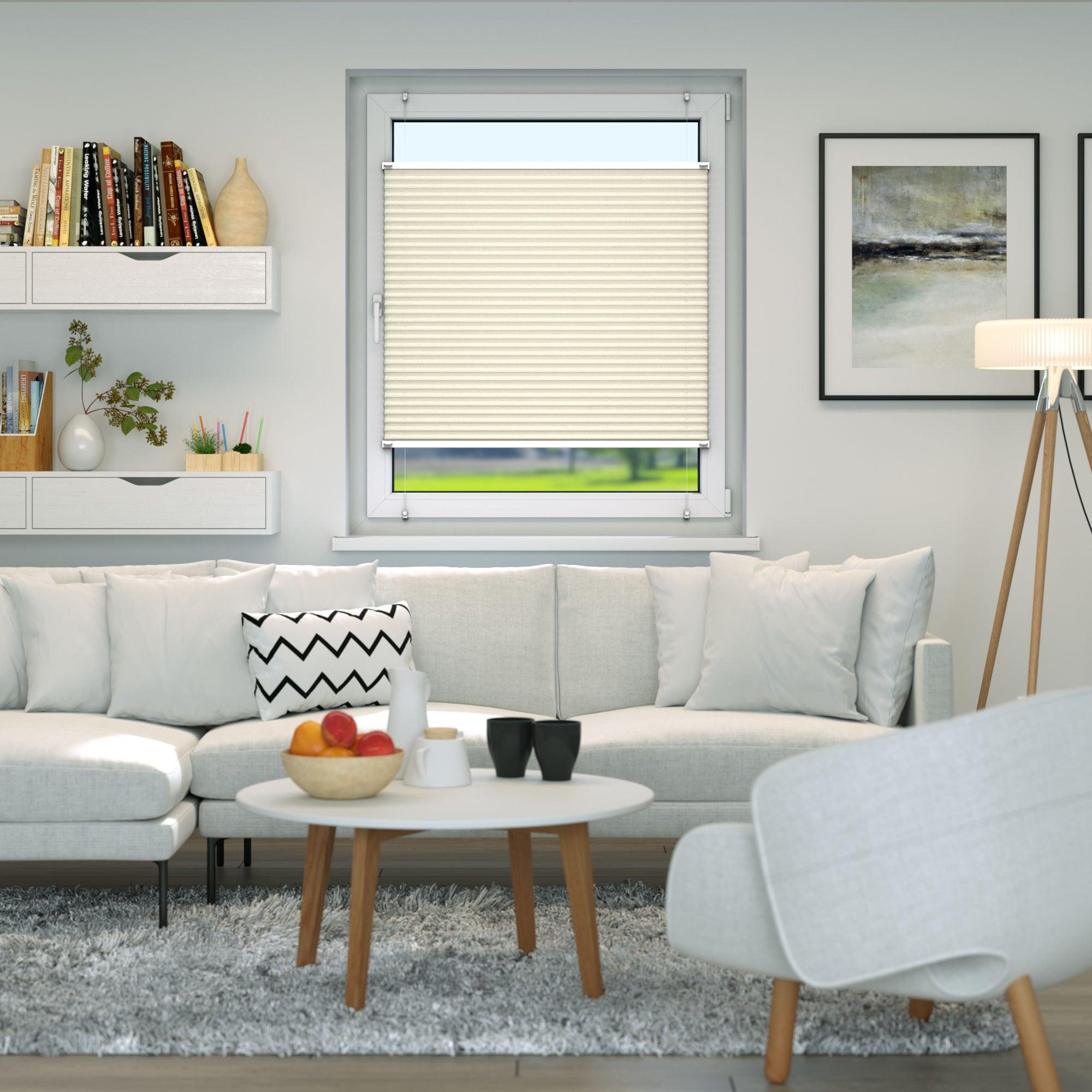 Klemmfix-Plissee-Faltrollo-ohne-Bohren-Fenster-Tuer-Plisseerollo-Plisee-Easyfix Indexbild 27