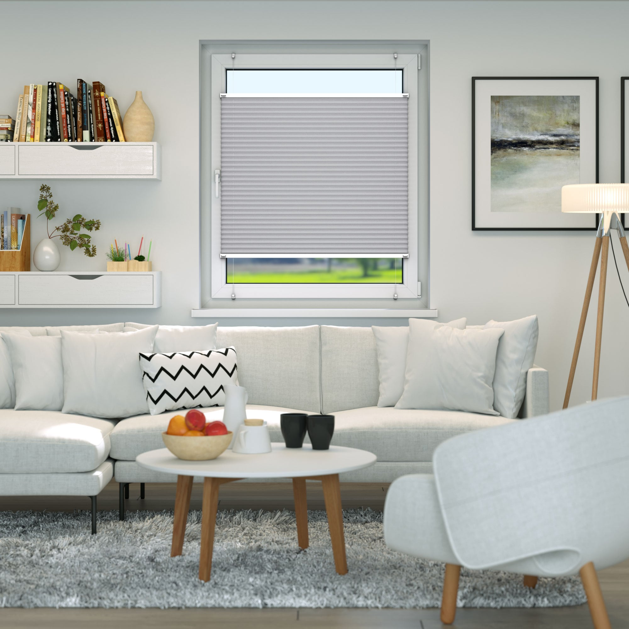 Klemmfix-Plissee-Faltrollo-ohne-Bohren-Fenster-Tuer-Plisseerollo-Plisee-Easyfix Indexbild 17