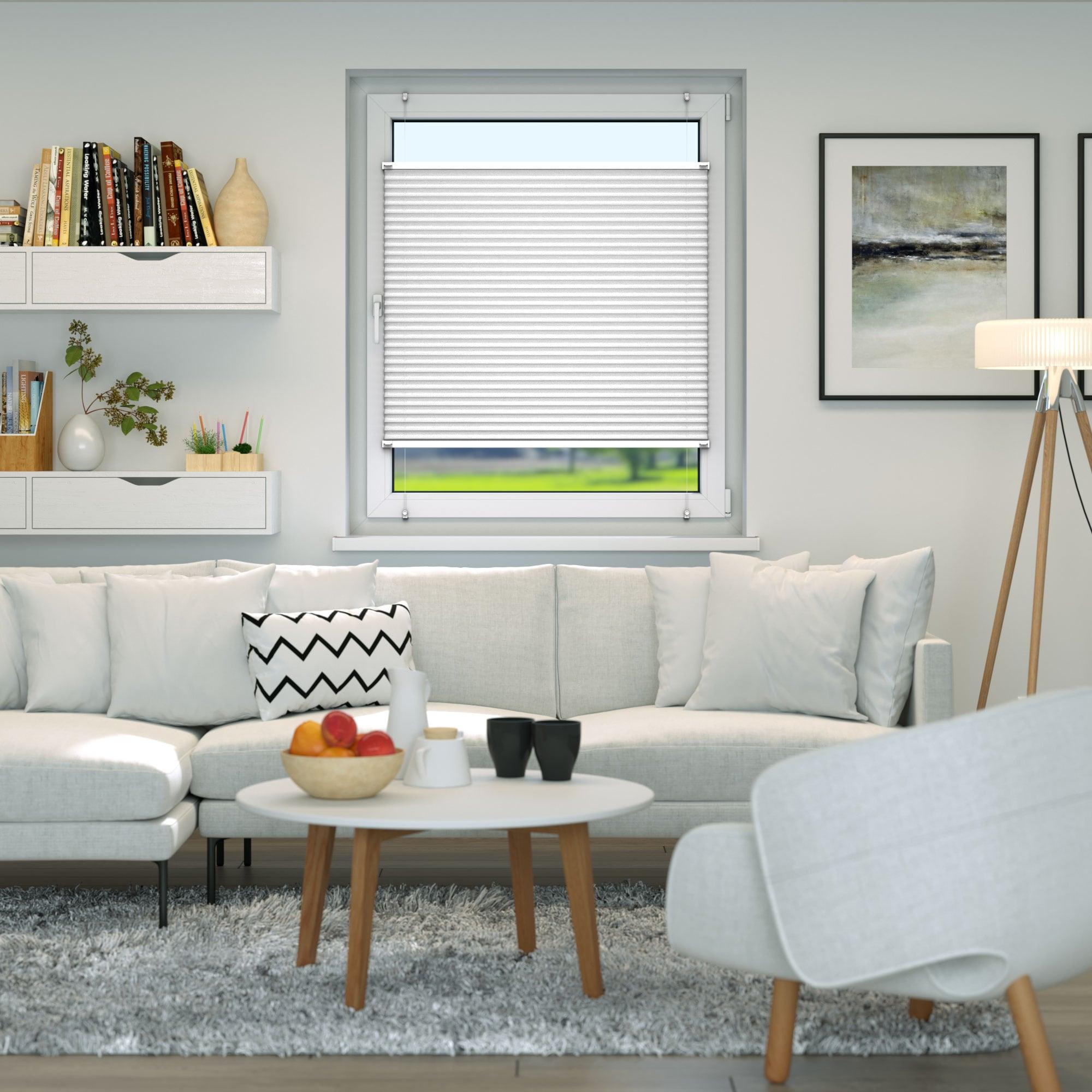 Klemmfix-Plissee-Faltrollo-ohne-Bohren-Fenster-Tuer-Plisseerollo-Plisee-Easyfix Indexbild 22