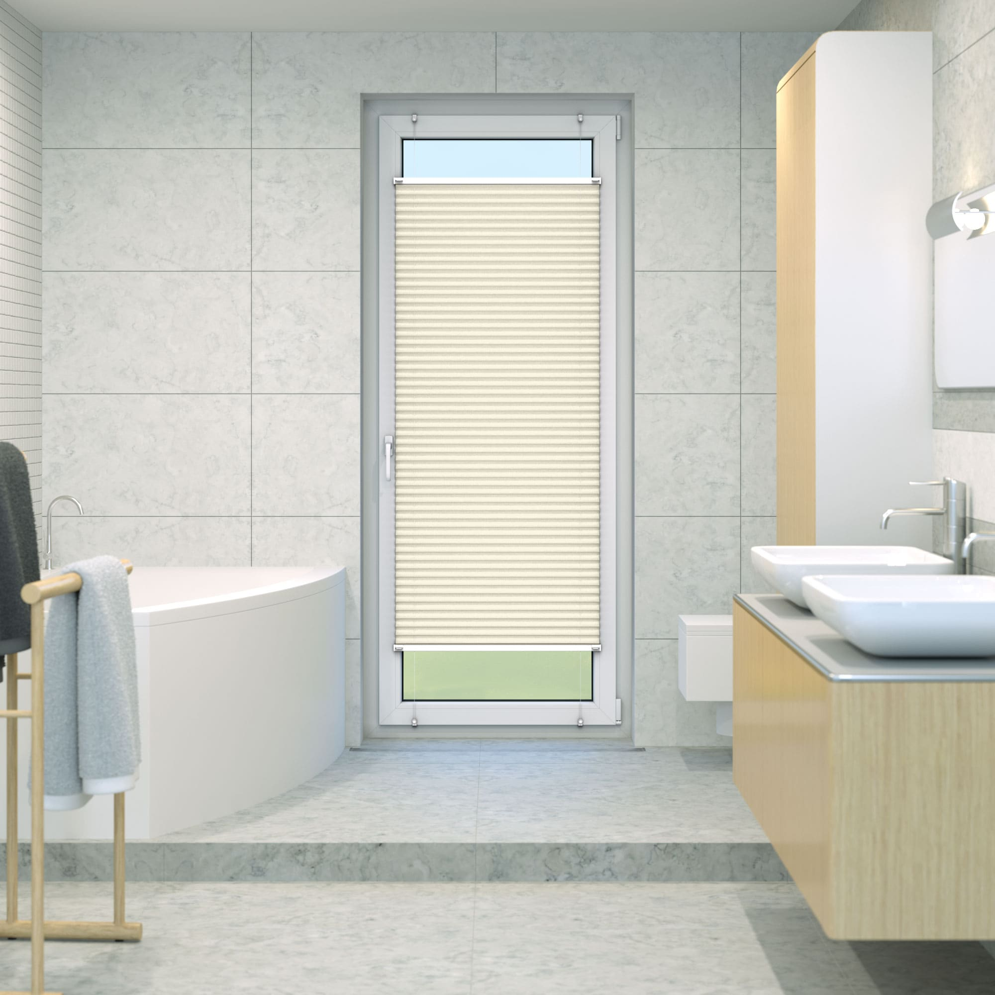 Klemmfix-Plissee-Faltrollo-ohne-Bohren-Fenster-Tuer-Plisseerollo-Plisee-Easyfix Indexbild 28