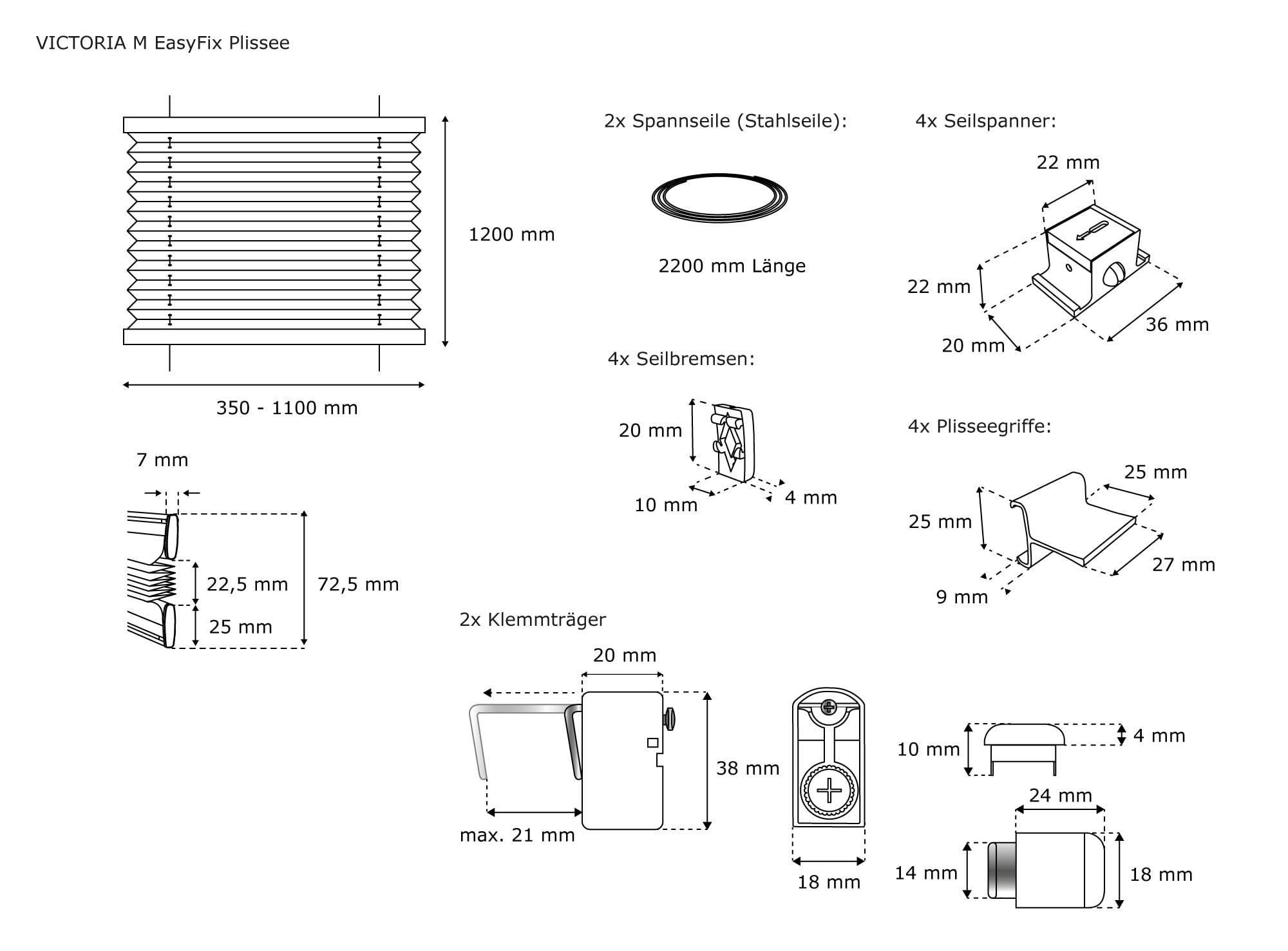 plissee standard zum klemmen blickdicht ohne bohren. Black Bedroom Furniture Sets. Home Design Ideas