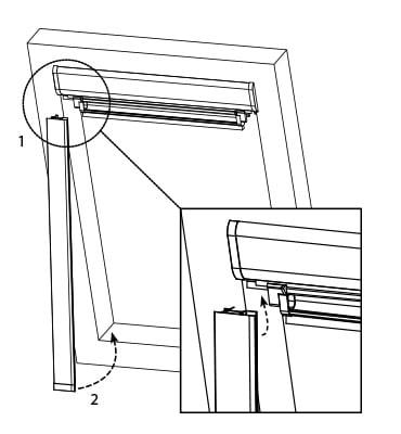 victoria m dachfensterrollo verdunkelungsrollo dachrollo f r velux roto fakro ebay. Black Bedroom Furniture Sets. Home Design Ideas