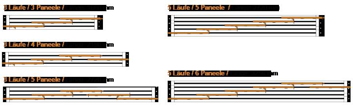aluminium schienen 3 und 5 l ufig f fl chengardinen fl chenvorh nge zubeh r ebay. Black Bedroom Furniture Sets. Home Design Ideas