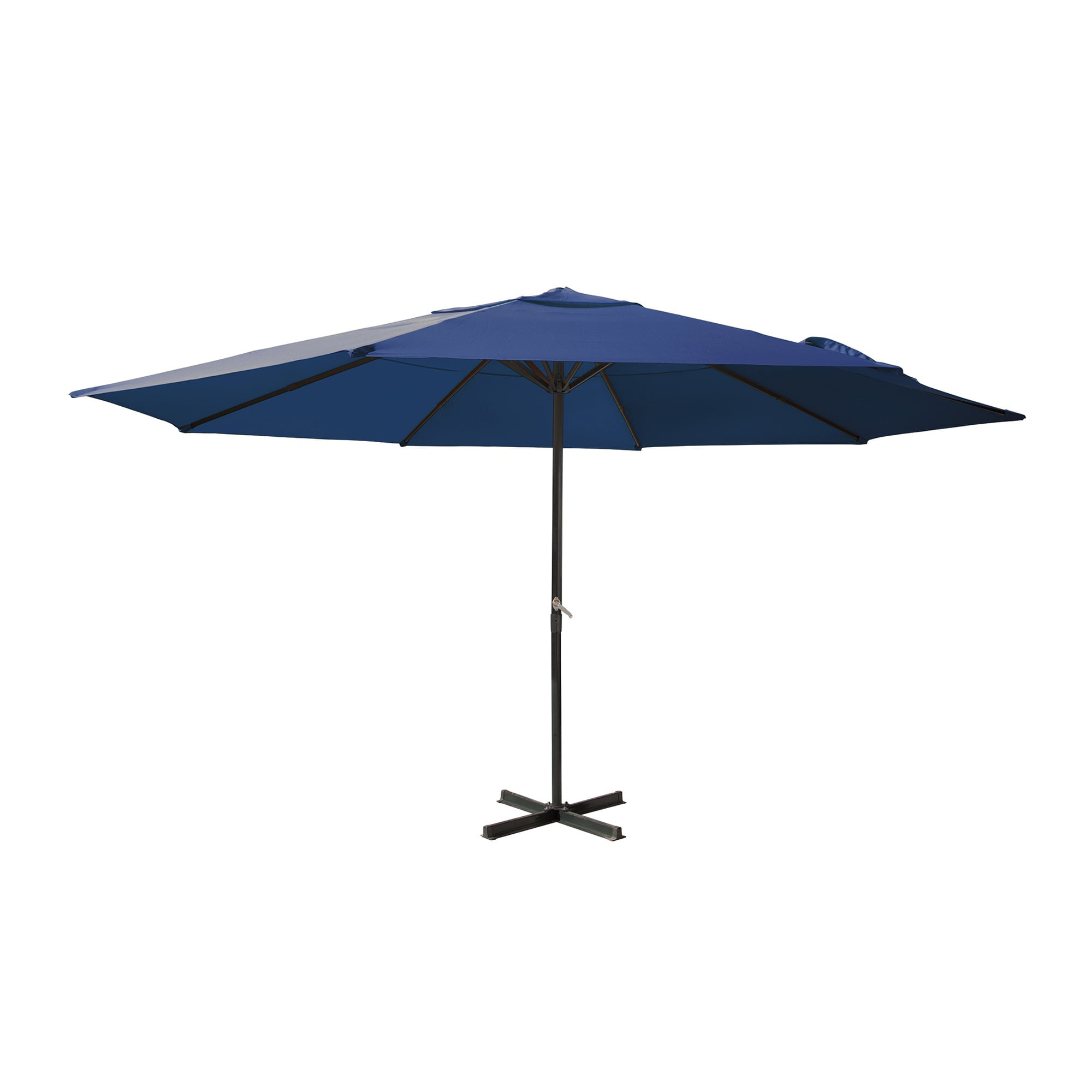 parasol droit grand en aluminium rond 5m armature avec. Black Bedroom Furniture Sets. Home Design Ideas