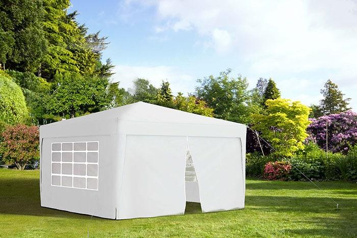 faltpavillon Basic | 3x3 m | wasserabweisender Stoff | anthrazit
