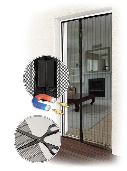 fliegengitter f r fenster und t r insektenschutz rollo vorhang t rrollo ebay. Black Bedroom Furniture Sets. Home Design Ideas