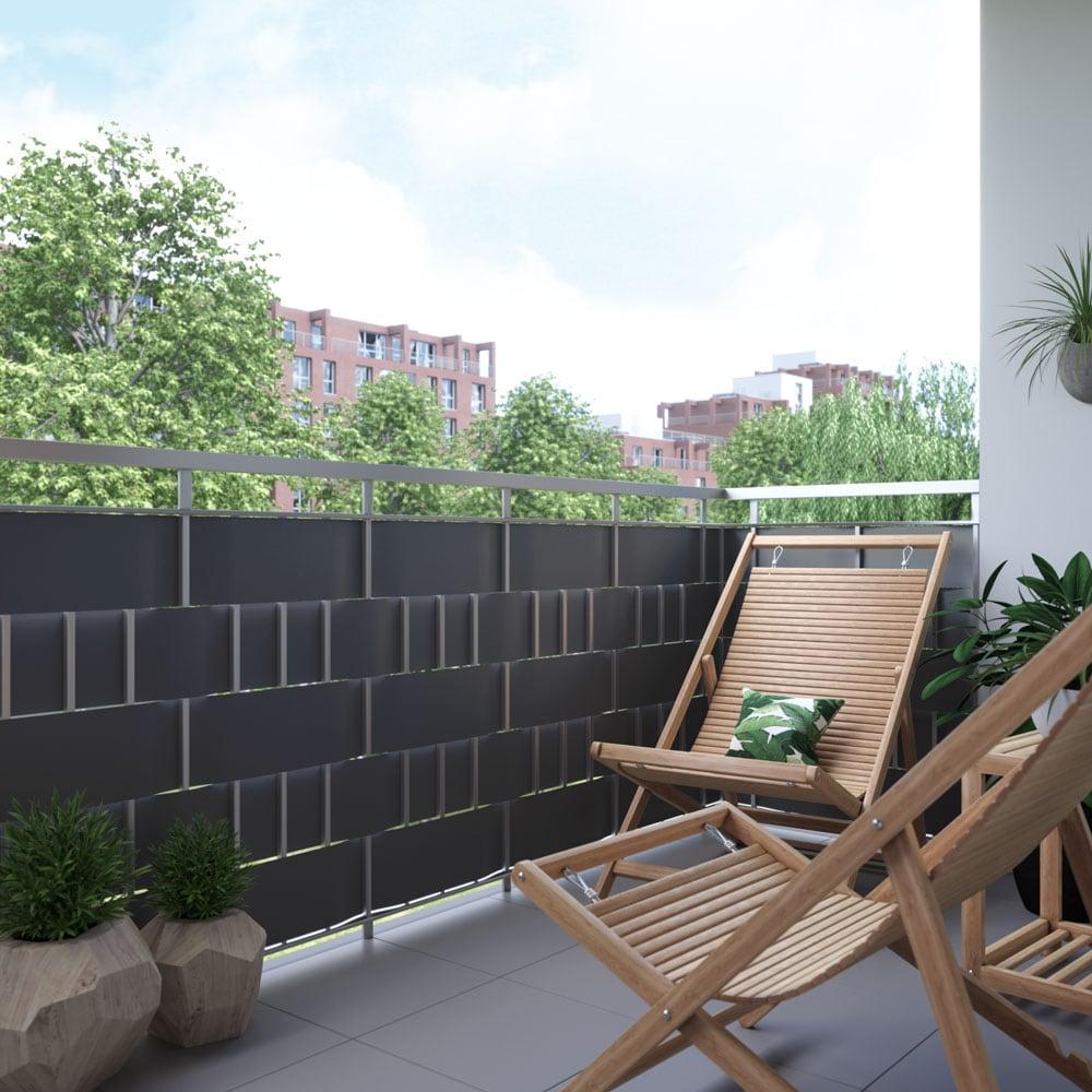 brise vue rouleau pour cl ture pvc protection visuelle jardin pare vent terrasse ebay. Black Bedroom Furniture Sets. Home Design Ideas