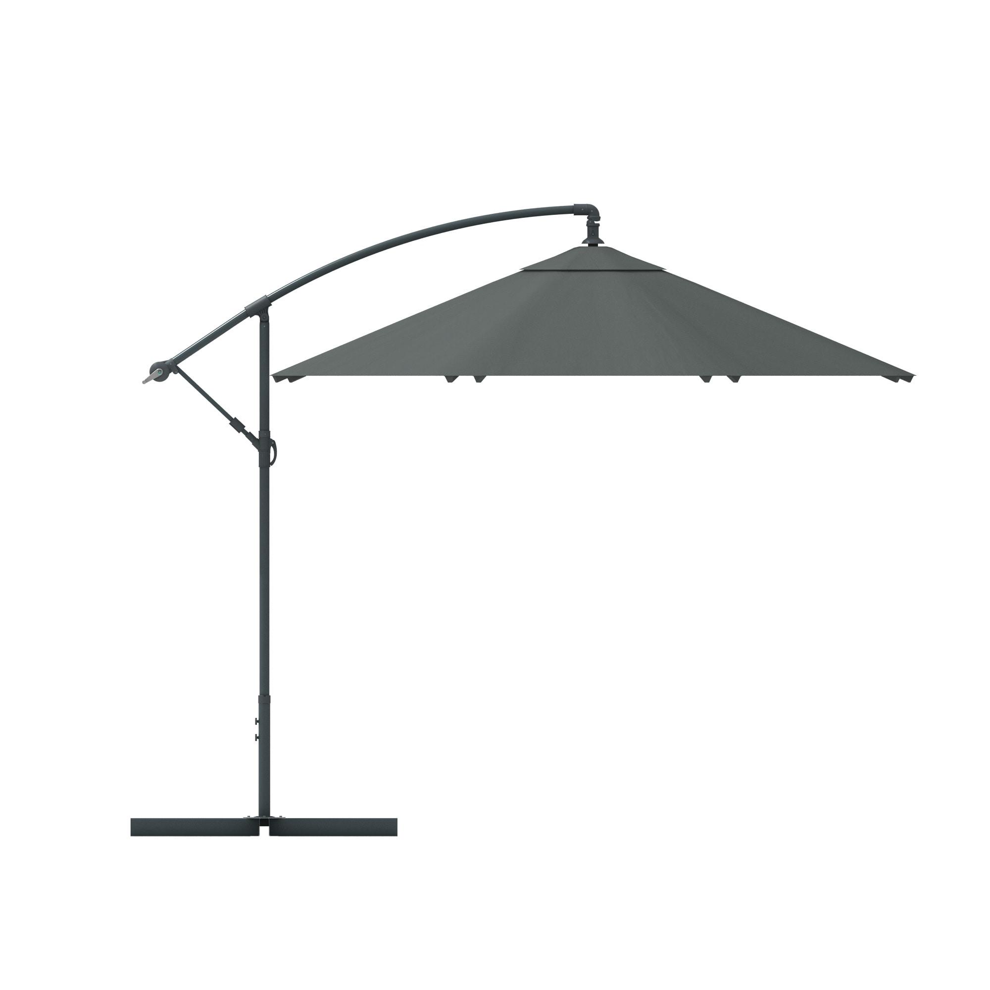 ampelschirm 3m sonnenschirm rund alu gartenschirm marktschirm sonnenschutz ebay. Black Bedroom Furniture Sets. Home Design Ideas