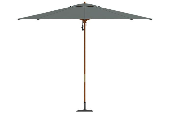 parasol en bois rond imperm able jardin terrasse protection soleil 3m paramondo ebay. Black Bedroom Furniture Sets. Home Design Ideas