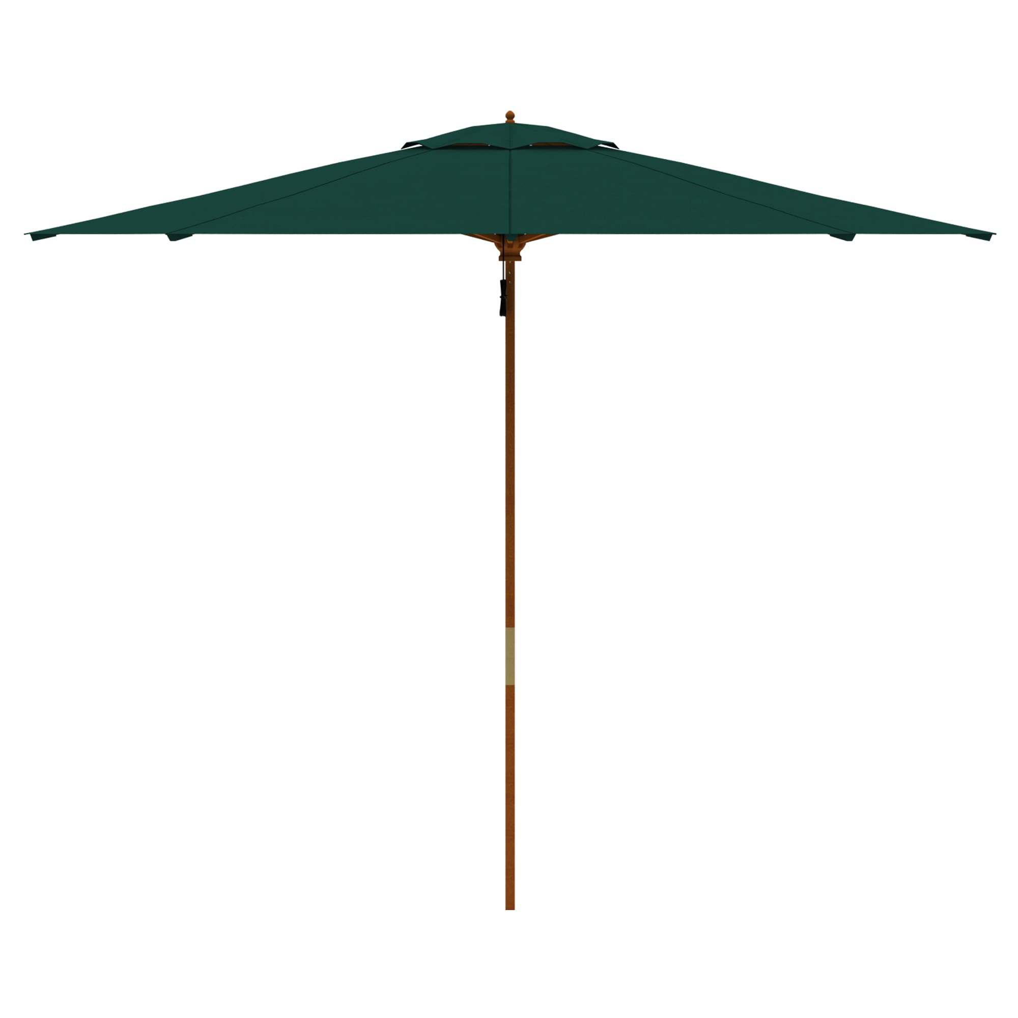 parasol en bois rond imperm able jardin terrasse protection soleil 3m paramondo ebay. Black Bedroom Furniture Sets. Home Design Ideas