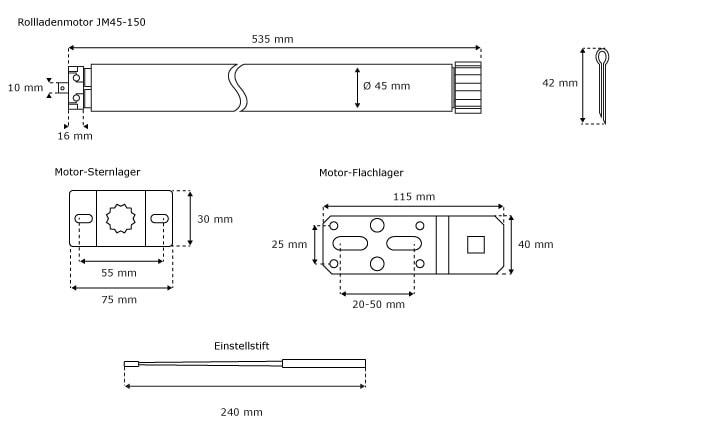 Details Sur Moteur Tubulaire Electromecanique Pour Volet Roulant Stores Sw40 60 Julius Mayer