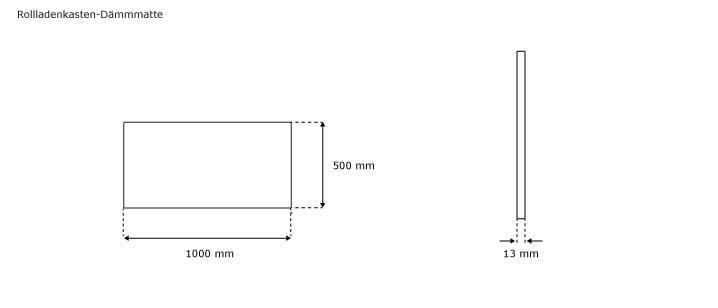 Polyethylen Rollladenkasten-Dämmmatte