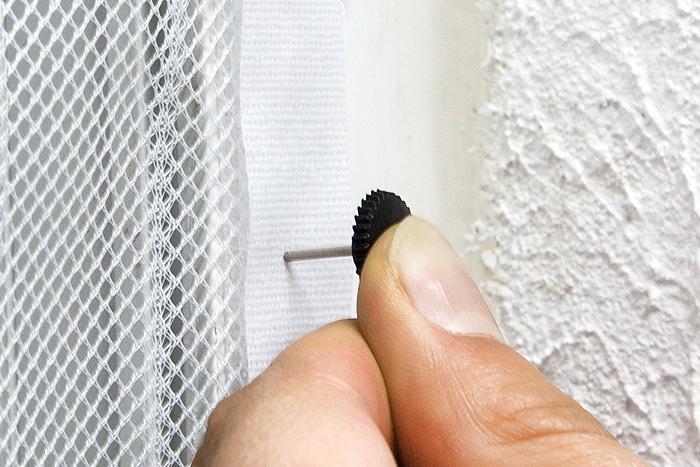 magnetvorhang befestigungskit rei n gel holzrahmen insektenschutz gitter schwarz ebay. Black Bedroom Furniture Sets. Home Design Ideas