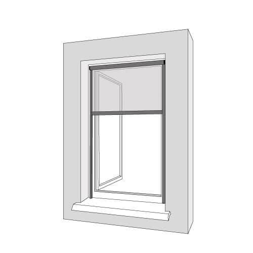 Montage am Fensterrahmen