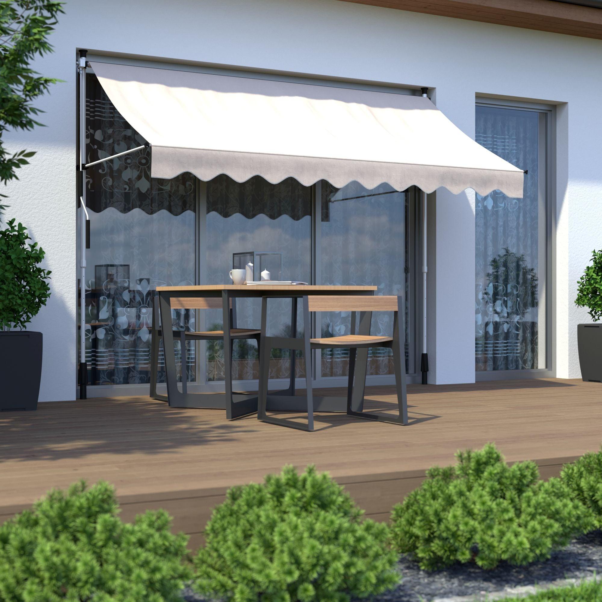 Markise-Balkonmarkise-Klemmmarkise-Garten-Sonnenschutz-einziehbar-ohne-Bohren Indexbild 4
