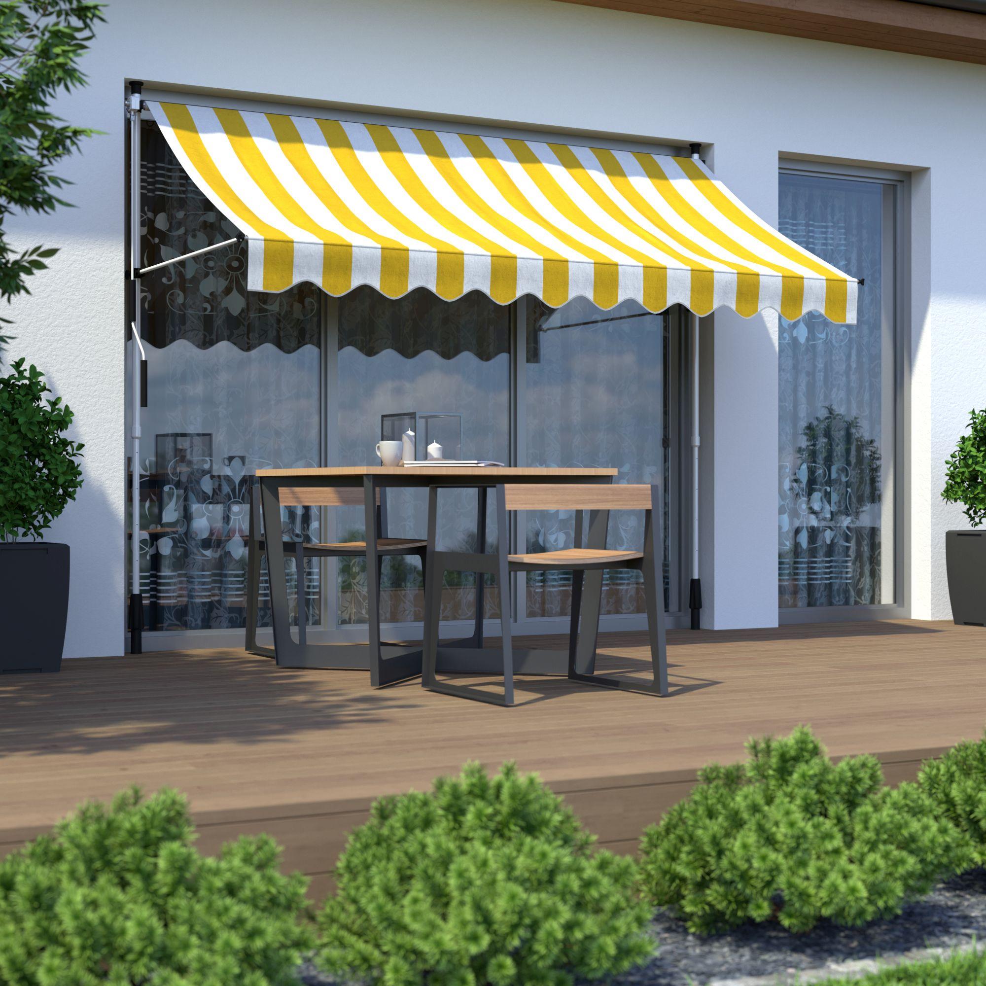 Markise-Balkonmarkise-Klemmmarkise-Garten-Sonnenschutz-einziehbar-ohne-Bohren Indexbild 16