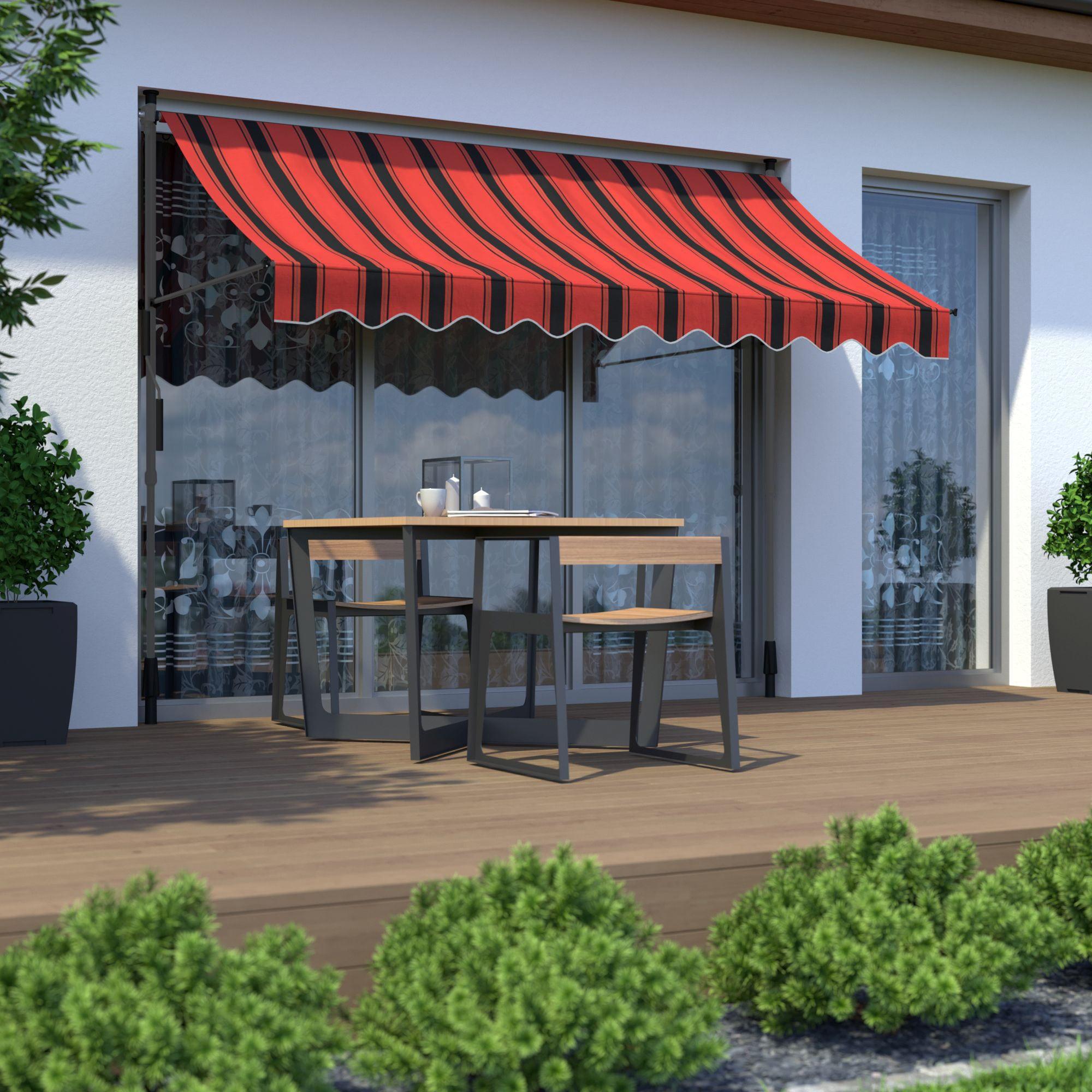 Markise-Balkonmarkise-Klemmmarkise-Garten-Sonnenschutz-einziehbar-ohne-Bohren Indexbild 10