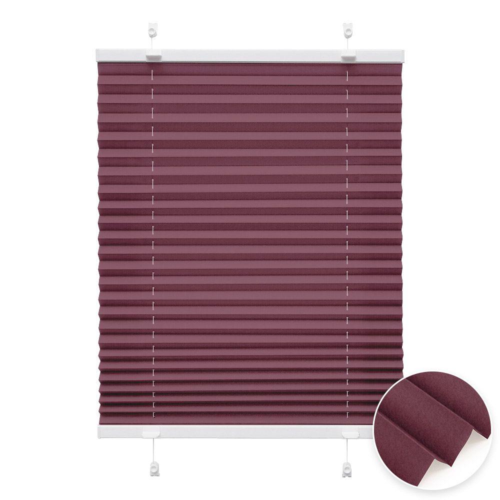 20000618 i2 bordeaux - Estores plisados cortina plisada fijación sin taladrar VICTORIA M Indiva Lite