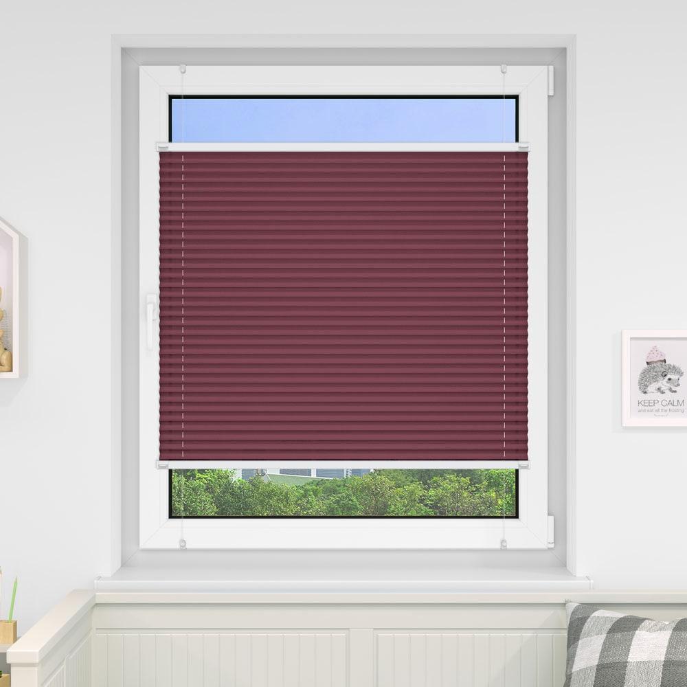 20000618 i5 bordeaux - Estores plisados cortina plisada fijación sin taladrar VICTORIA M Indiva Lite