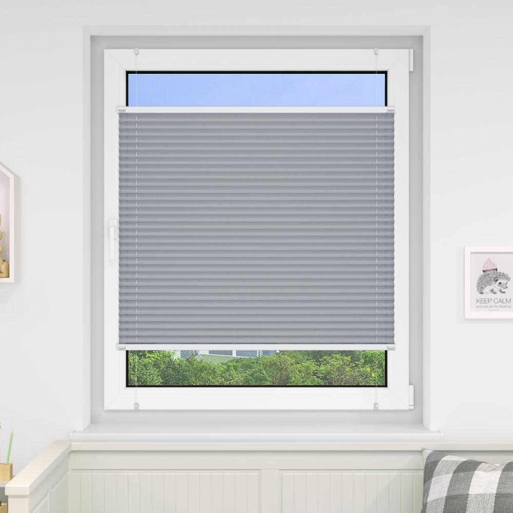 20000618 i5 grau - Estores plisados cortina plisada fijación sin taladrar VICTORIA M Indiva Lite