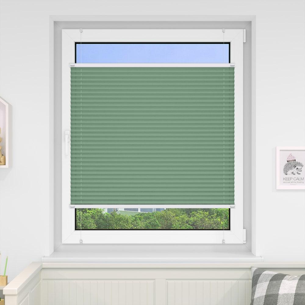 20000618 i5 gruen - Estores plisados cortina plisada fijación sin taladrar VICTORIA M Indiva Lite