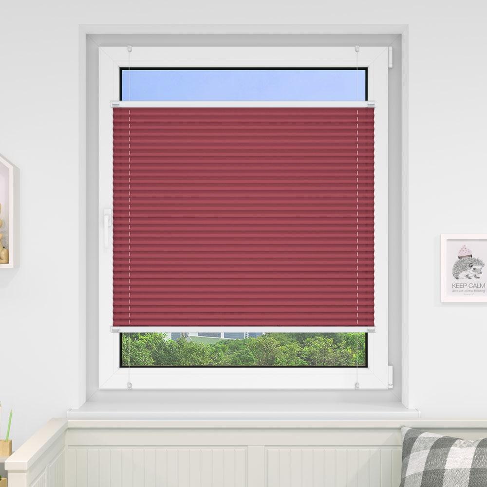 20000618 i5 rot - Estores plisados cortina plisada fijación sin taladrar VICTORIA M Indiva Lite