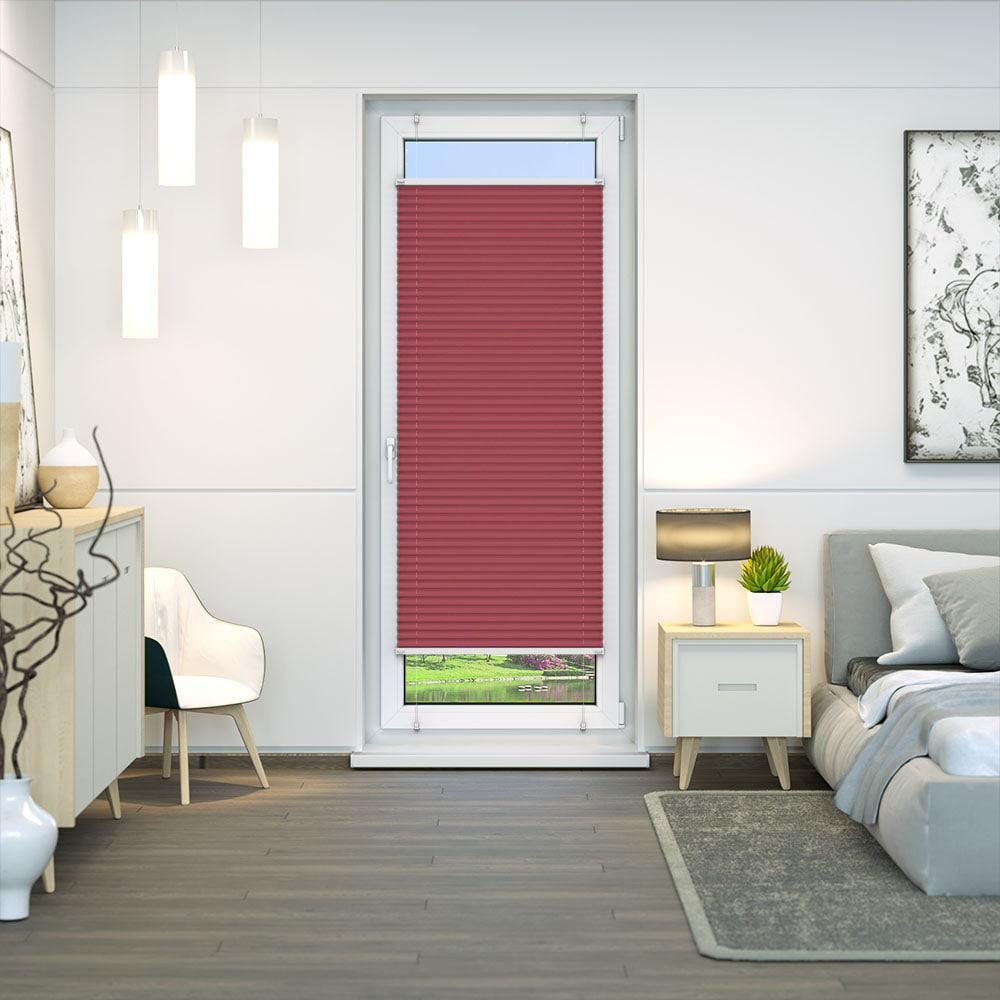 20000618 i7 rot - Estores plisados cortina plisada fijación sin taladrar VICTORIA M Indiva Lite