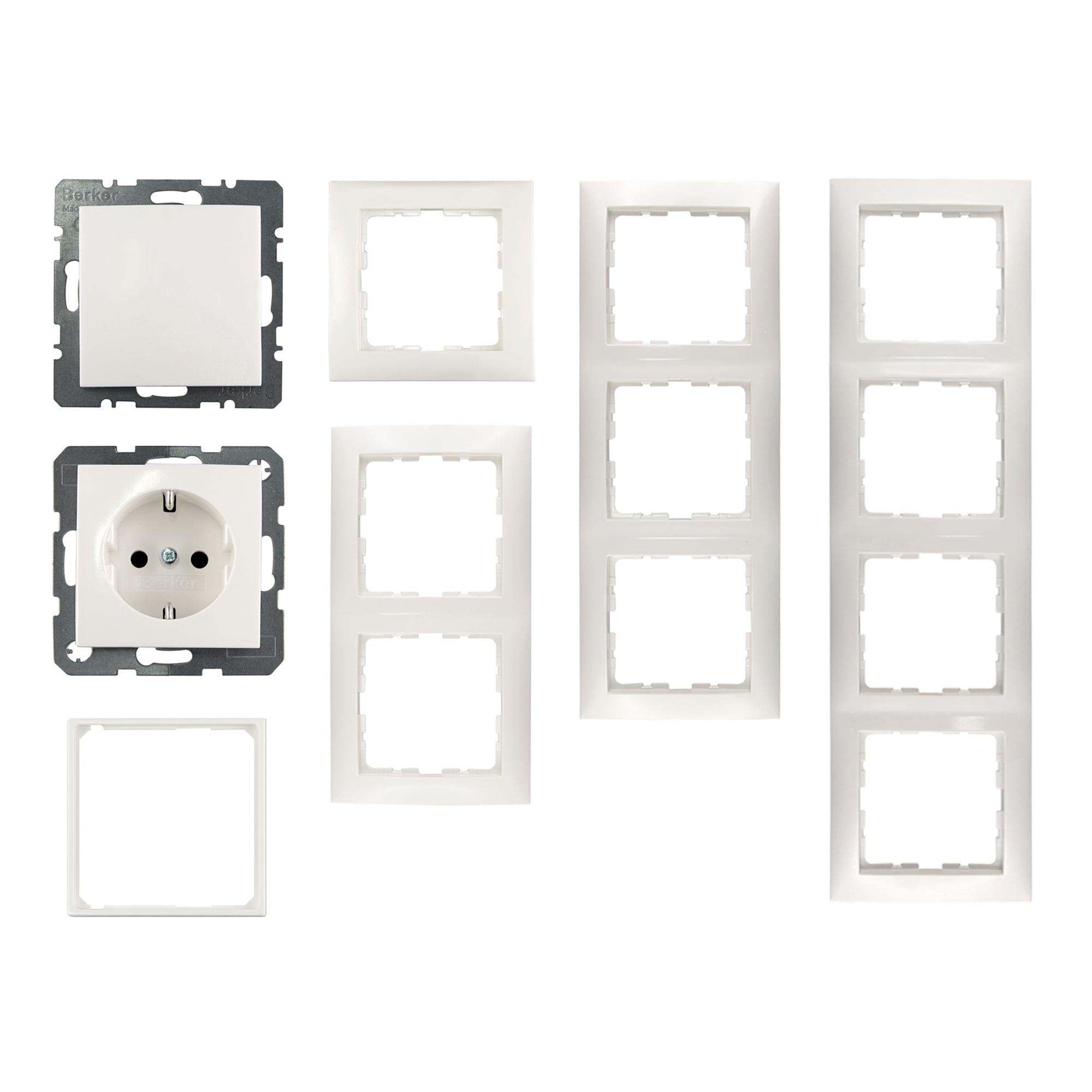 berker s1 rahmen steckdose schalter taster. Black Bedroom Furniture Sets. Home Design Ideas