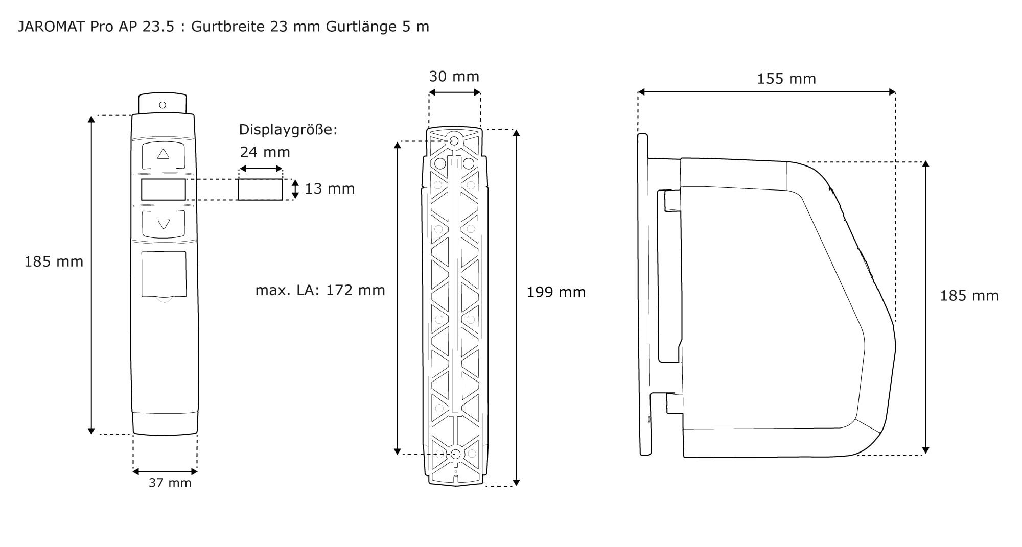 jarolift gurtwickler aufputz rolladen rolladen rollo elektrisch jaromat pro wei ebay. Black Bedroom Furniture Sets. Home Design Ideas