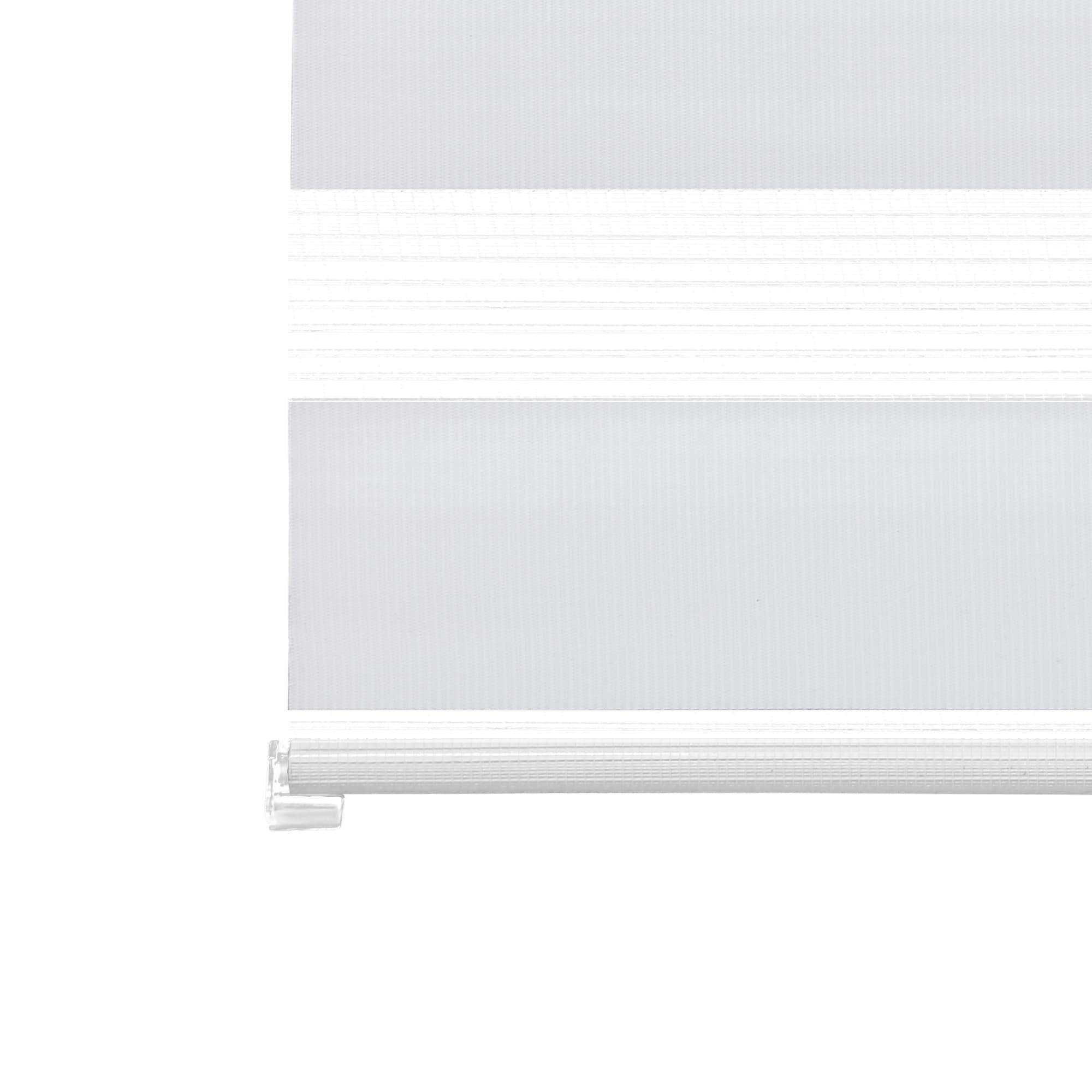 Fensterrollo Klemmrollo Duo-Rollos Doppelrollos Klemmfix Seitenzug Grau 60-140cm