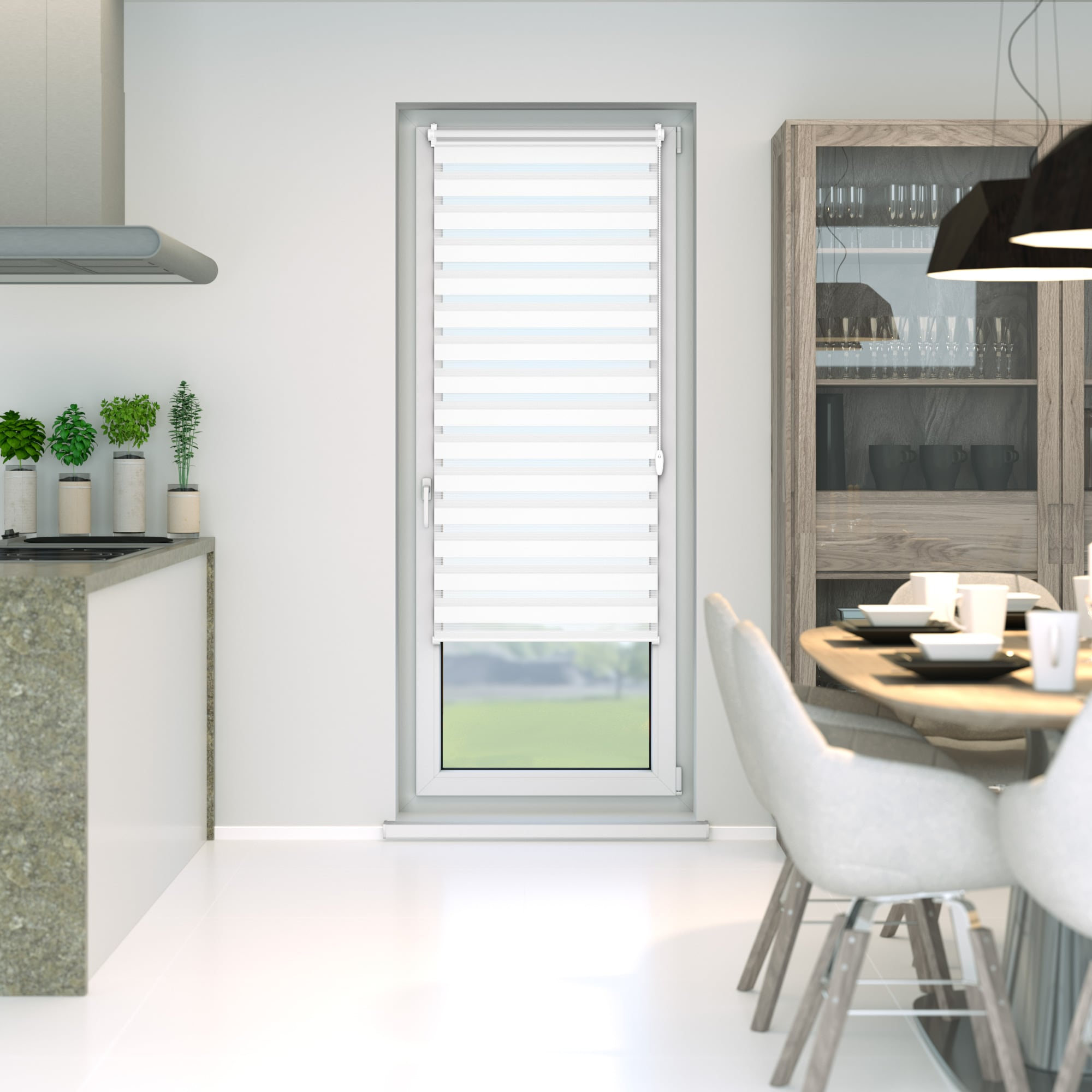 store enrouleur double stores jour nuit fen tre porte. Black Bedroom Furniture Sets. Home Design Ideas