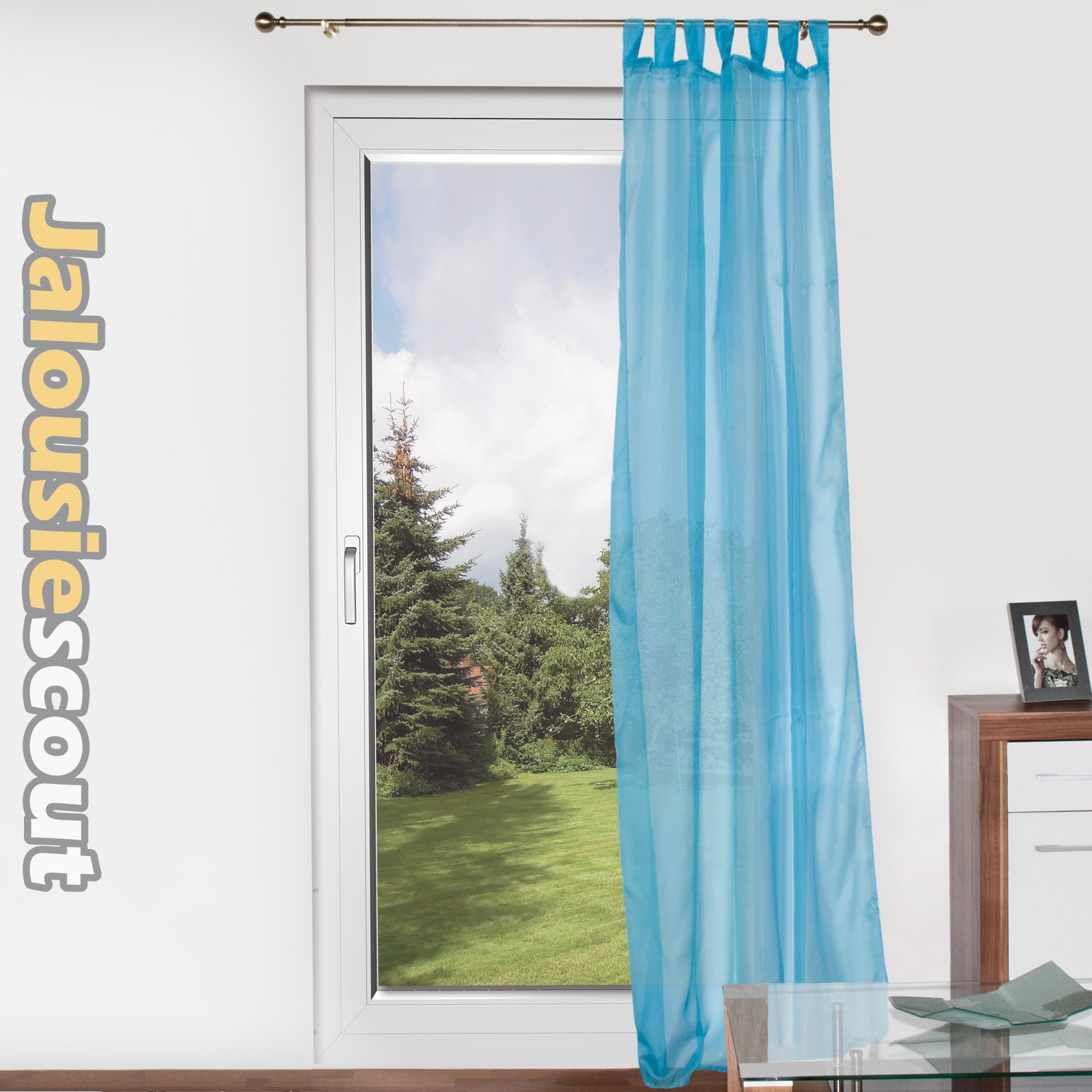 fenster schlaufenschal vorhang taft vorhang gardine dekoschal transparent voile. Black Bedroom Furniture Sets. Home Design Ideas