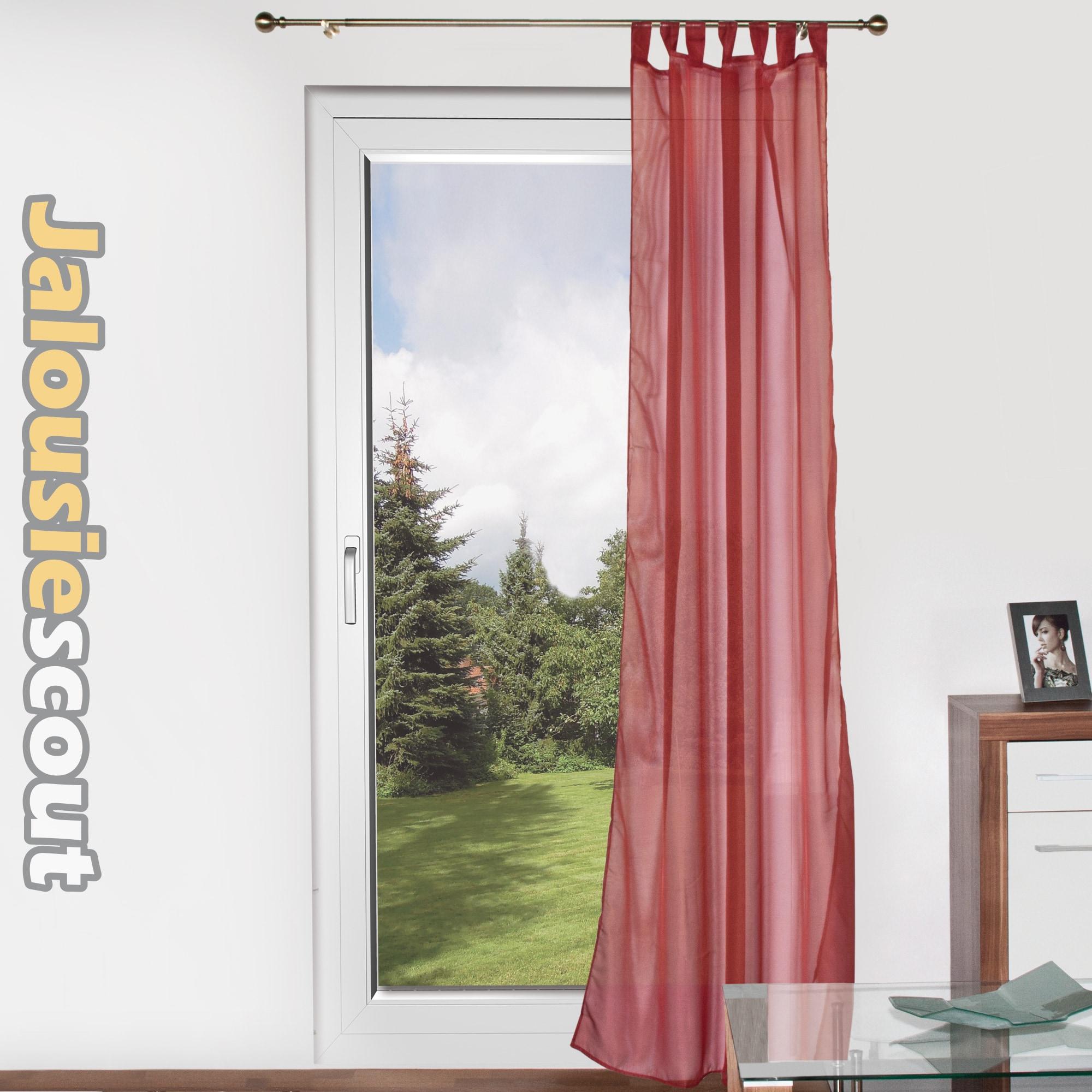 Fenster schlaufenschal vorhang taft vorhang gardine dekoschal transparent voile - Vorhang fenster ...