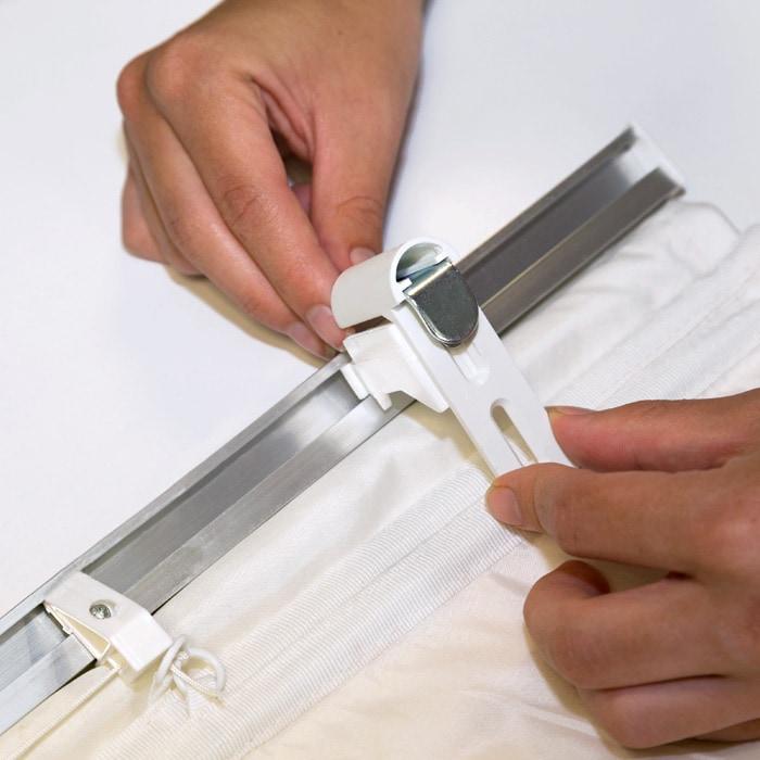 2er set Klemmfix plissé de serrage support pince support pour raff-rollo fenêtres//portes