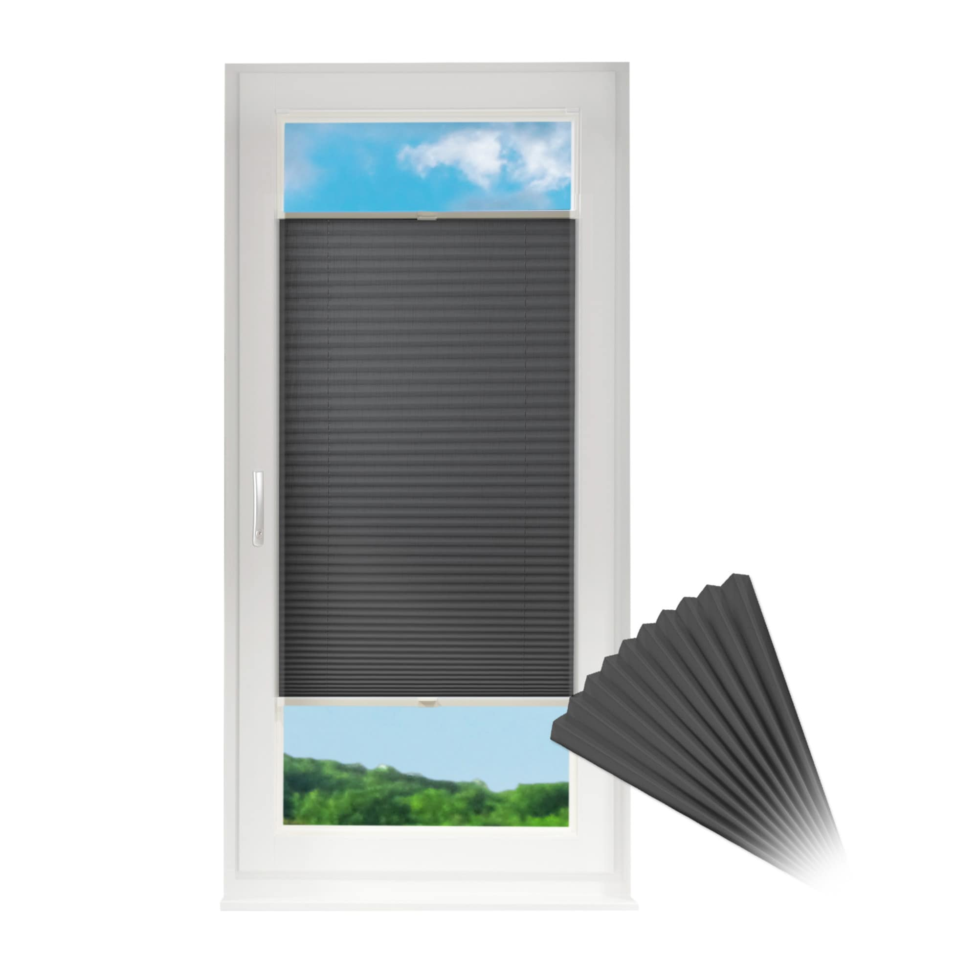 Plissee f r fenster t ren rollo jalousie opt klemmfix for Fenster rollo