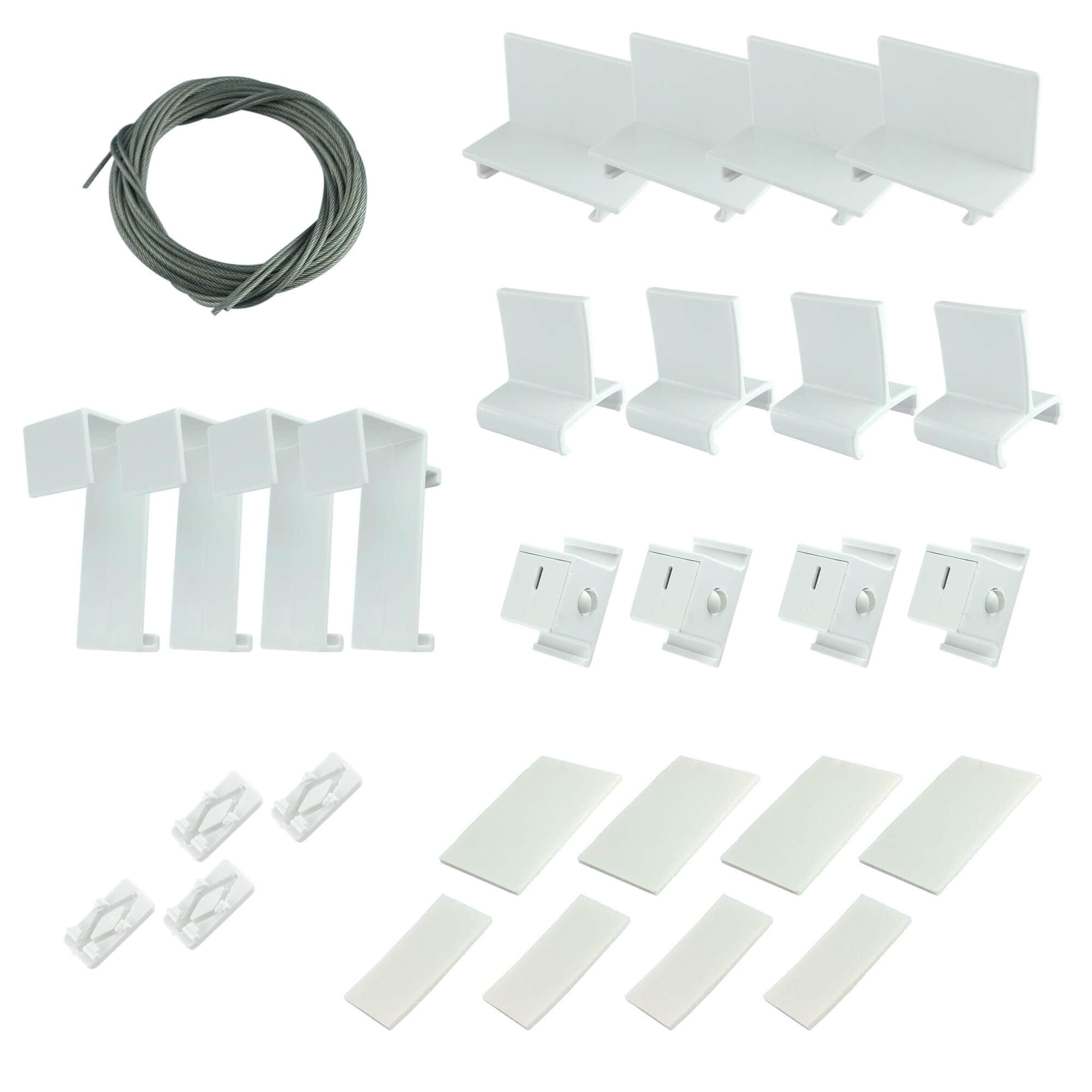 ersatzteilset plissee ersatzteile komplettset klemmfix easyfix halter victoria m ebay. Black Bedroom Furniture Sets. Home Design Ideas