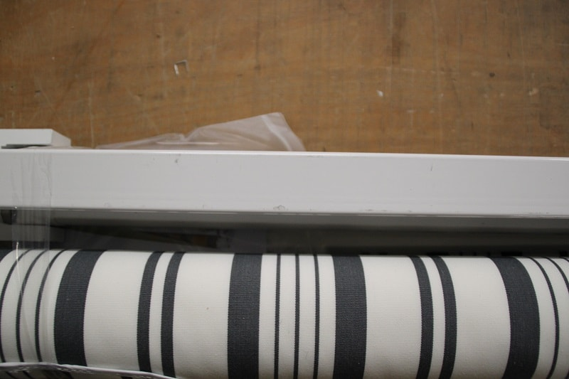 B Ware Gelenkarmmarkise Grau Weiss Multistreifen